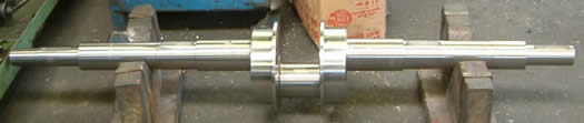 Crankshaft for power press manufactured from forged bar to sample.